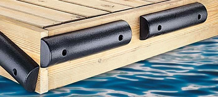 Flat Boat Dock Bumper 4.5Hx2.25Dx24L
