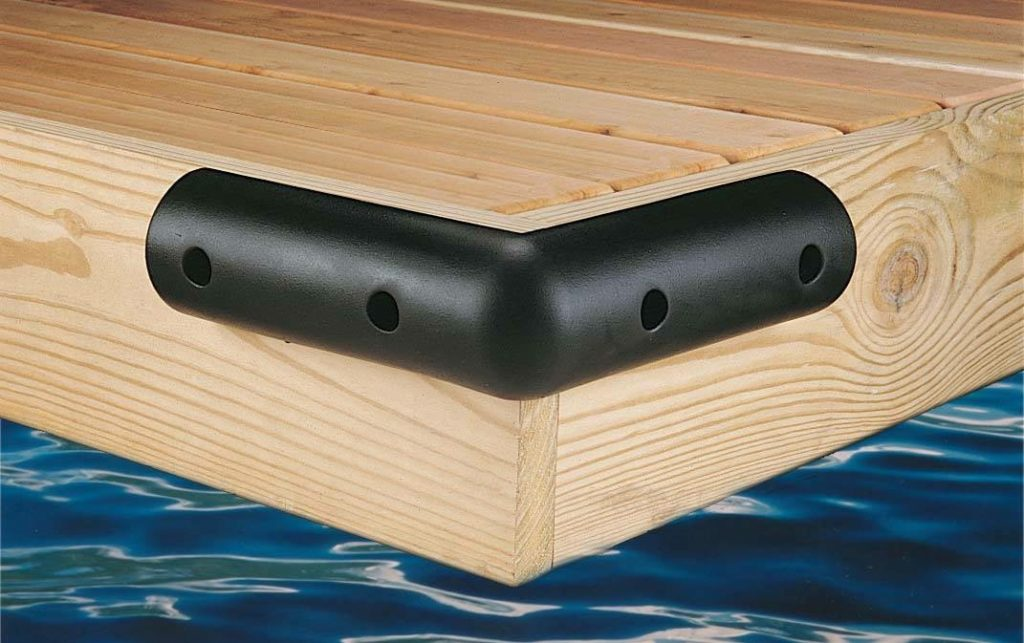 Outside Corner Boat Dock Bumper 4.5Hx2.25Dx12L